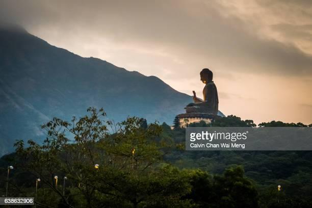 Big Buddha statue on Ngong Ping, Lantau Island, Hong Kong