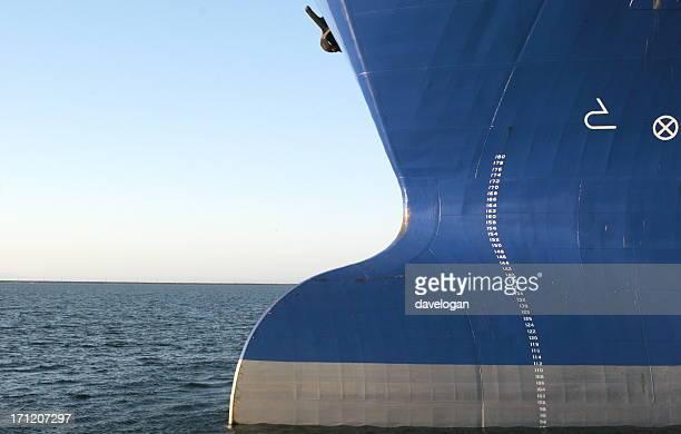 Big Bulbous Bow of OIl Tanker