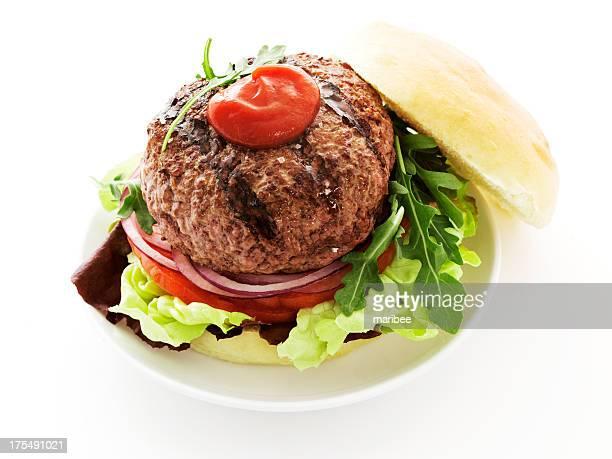big burger with ketchup