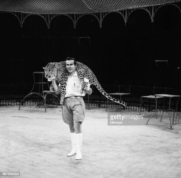 Big cat act at Bertram Mills Circus 19th December 1958