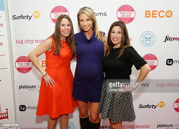 Big City Moms CoFounder Risa Goldberg Jill Nicolini and Big City Moms CoFounder Leslie Venokur attend Big City Moms Biggest Baby Shower Ever at the...