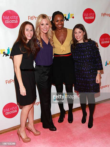 Big City Moms cofounder Risa Goldberg TV personality Raina Seitel prenatal expert Latham Thomas and Big City Moms cofounder Leslie Venokur attend the...