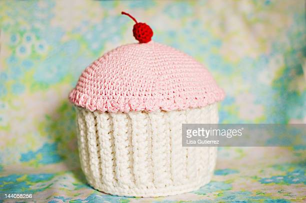 Big crocheted cupcake