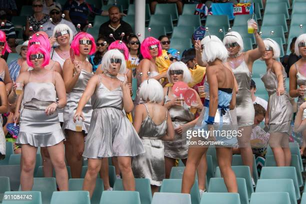 Big crowds at the World Rugby Sevens Series at Allianz Stadium in Sydney on January 27 2018