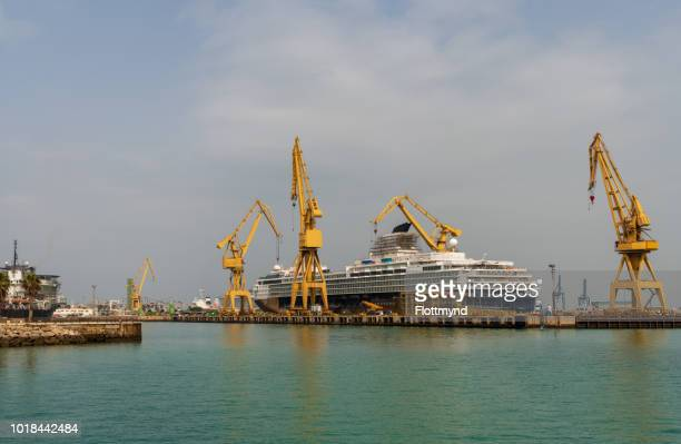 Big cruise ship for maintenance, Cadiz, Spain