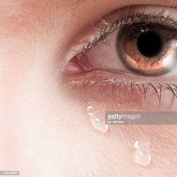Big crying eye
