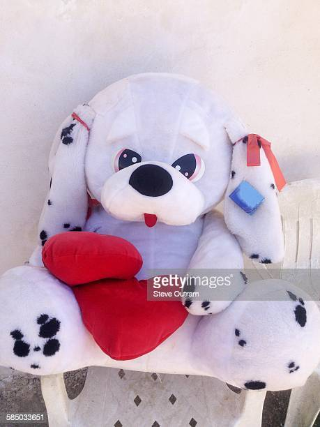 Big cuddly toy dog
