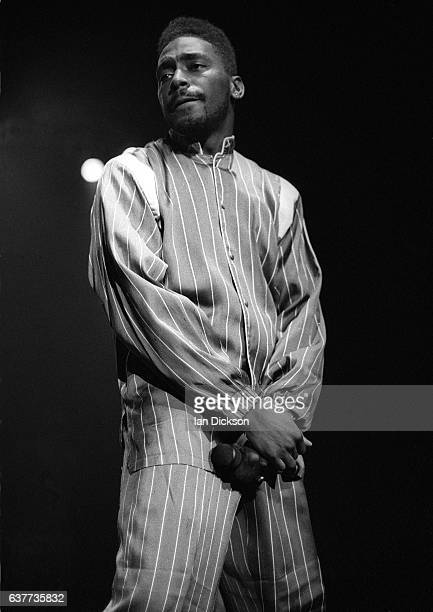 Big Daddy Kane performing on stage at Brixton Academy London 11 December 1989