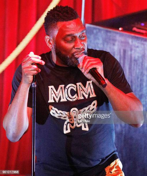 Big Daddy Kane performs on stage during the 2018 Tribeca Studios and MCM Sneak Preview Of Women's Hip Hop At Public Hotel on April 24 2018 in New...