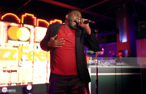 Big Daddy Kane performs onstage during #TBT Night Presented By BuzzFeed at Mastercard House on January 25 2018 in New York City