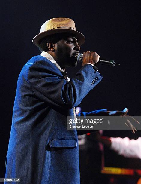 Big Daddy Kane performs with The Roots during Verizon Presents Thr Roots with Special Guests at Radio City Music Hall May 18 2006 at Radio City Music...