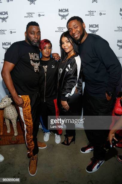 Big Daddy Kane Rapsody Misa Hylton and 9th Wonder attend the 2018 Tribeca Studios and MCM Sneak Preview Of Women's Hip Hop At Public Hotel on April...