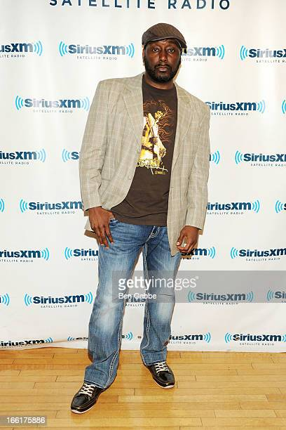 "Big Daddy Kane speaks with Ed Lover on ""Backspin"" at SiriusXM Studios on April 9, 2013 in New York City."