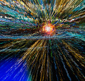 complex colored light patterns illustrate big