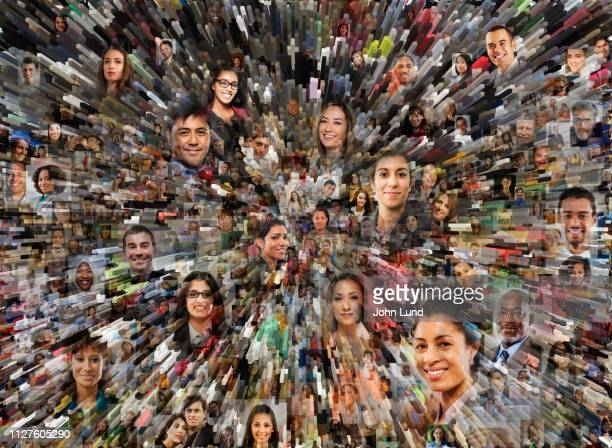 big data social media montage - image montage stock pictures, royalty-free photos & images