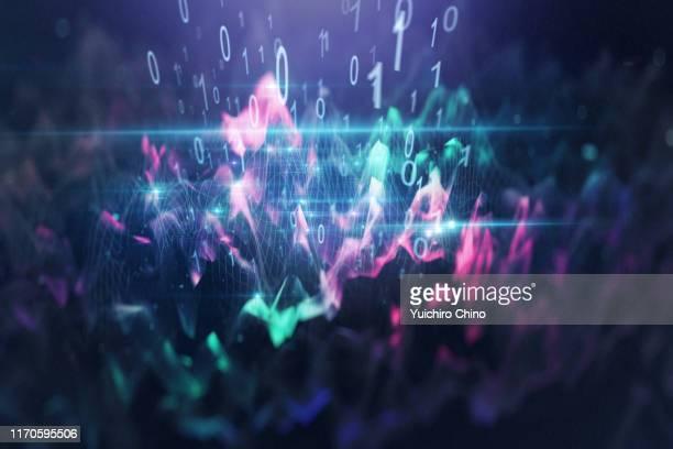 big data wave - big data imagens e fotografias de stock