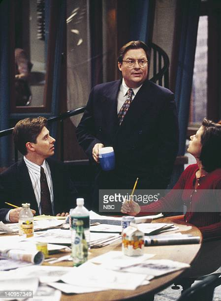 RADIO Big Day Episode 5 Pictured Dave Foley as Dave Nelson Stephen Root as Jimmy James Maura Tierney as Lisa Miller Photo by Rory Flynn/NBCU Photo...