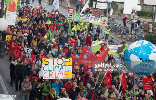 Big demonstration on the occasion of the UN Climate Conference in Bonn