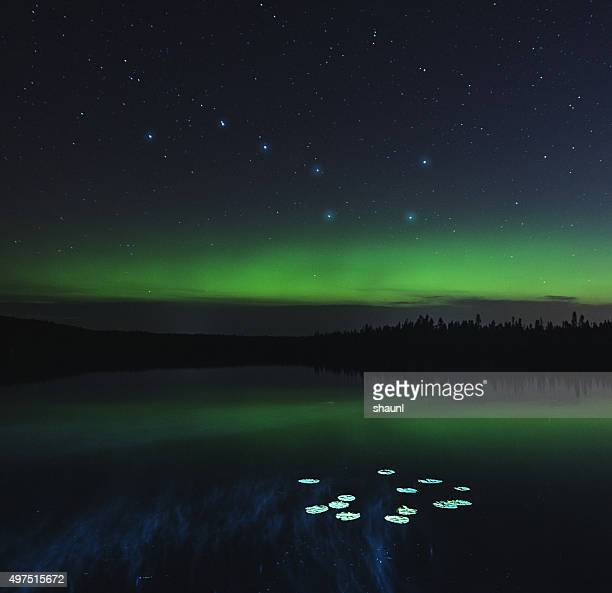big dipper lake - north star stock photos and pictures