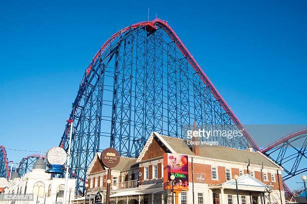 Big Dipper ride at Blackpool Pleasure Beach Blackpool England