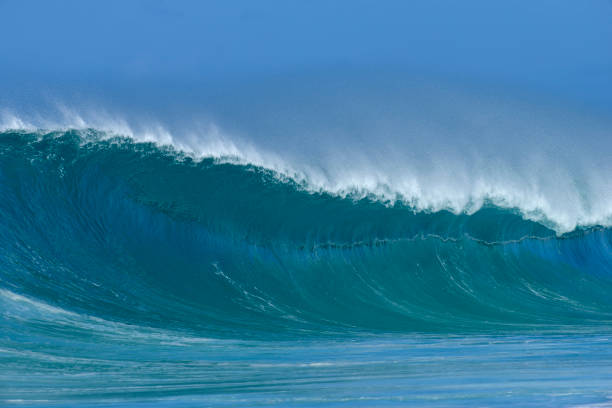 Big dramatic wave. Oahu, Hawaii, USA, Pacific Islands, Pacific Ocean.