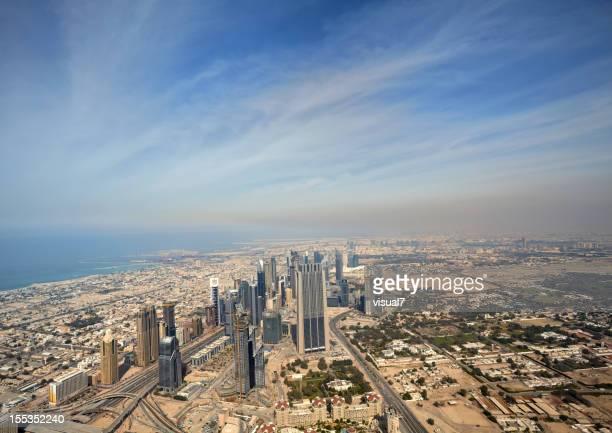 Big Dubai Skyline, Arial View