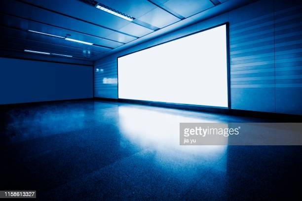a big electronic screen interior - shanghai billboard stock pictures, royalty-free photos & images