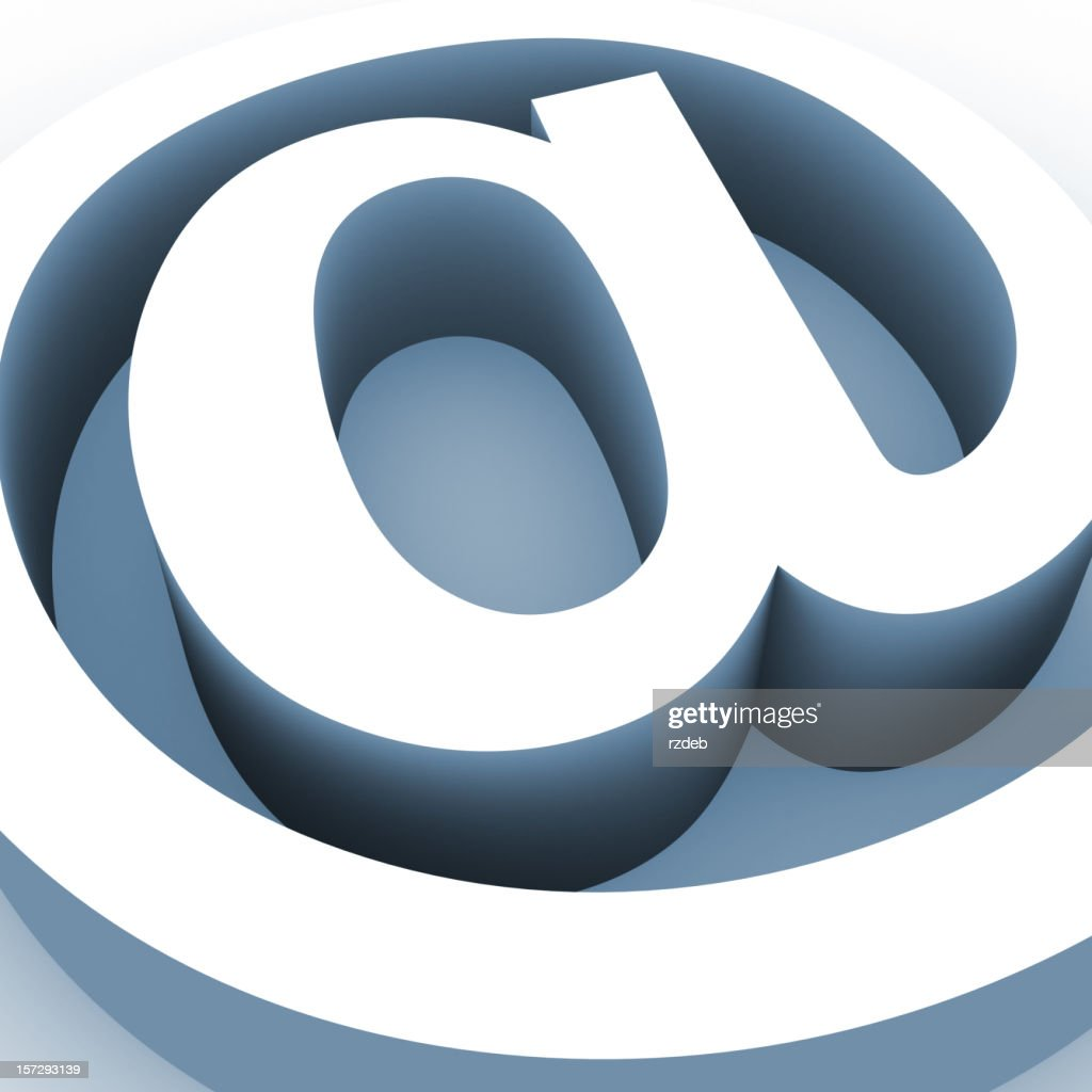 Big Email Sign : Stockfoto