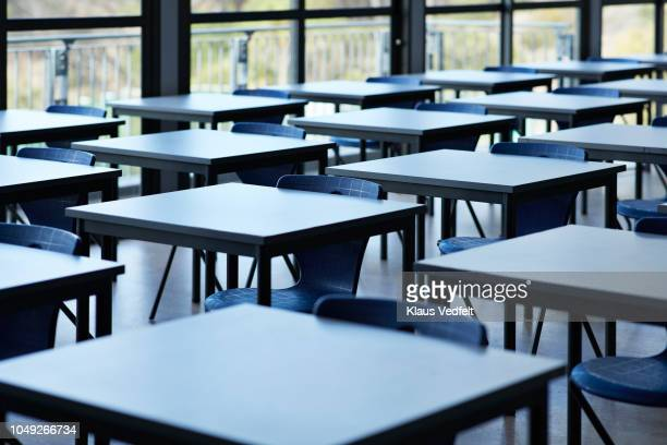 big empty classroom at modern school - school building stock pictures, royalty-free photos & images