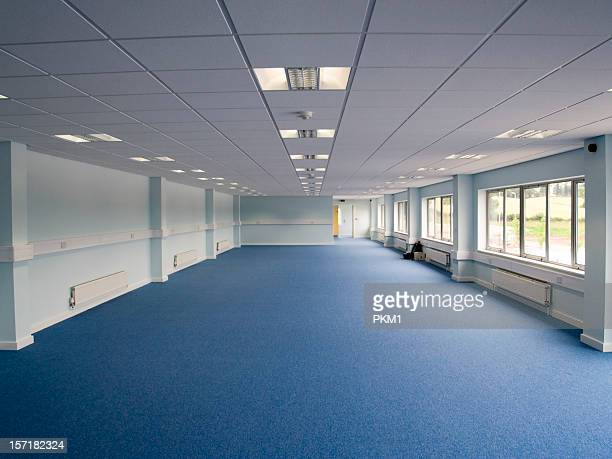 big empty room to be used for office space - ceiling stock pictures, royalty-free photos & images