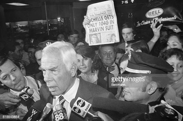 Big Entrance New York Actor Lee Marvin is the center of a lot of attention as he arrives at New York's Kennedy Airport Earlier in the day in...