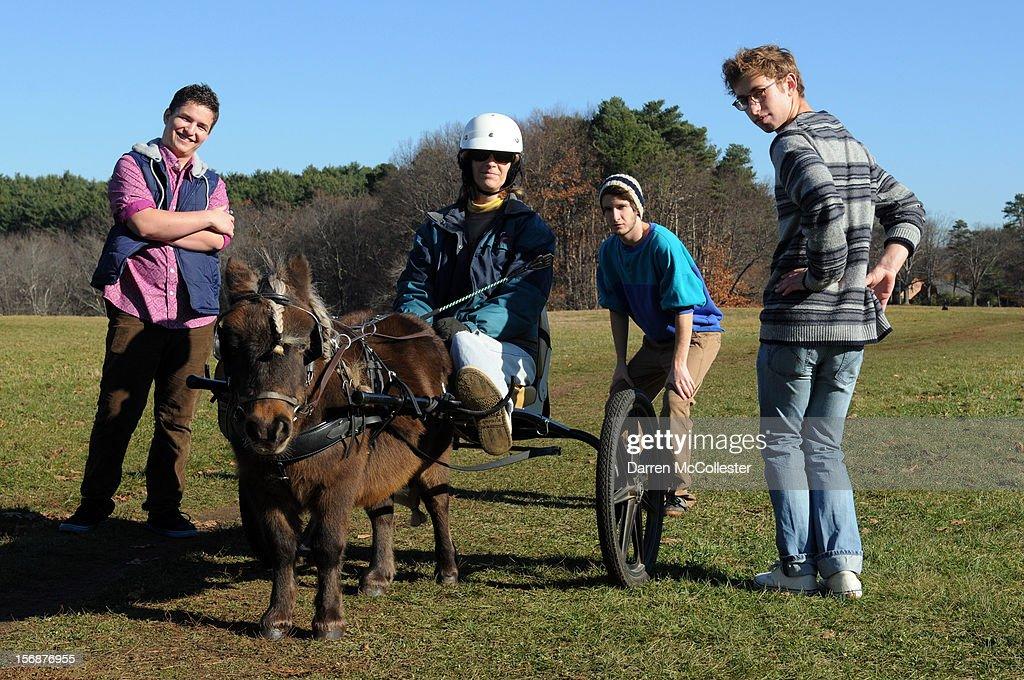 Big Fair, Daniel Alvarez De Toledo, Jordan Dunn-Pilz and Clayton Vye during their photo shoot at Maudsley State Park on November 23, 2012 in Newburyport, Massachusetts.