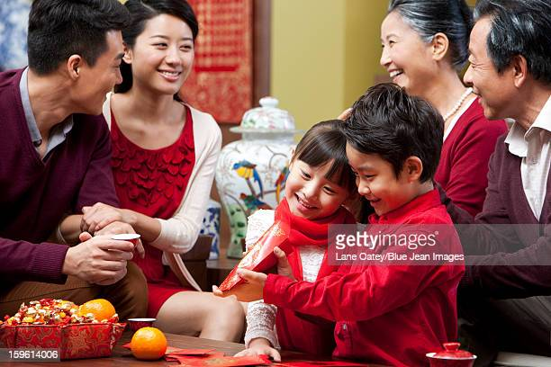 Big family celebrating Chinese New Year