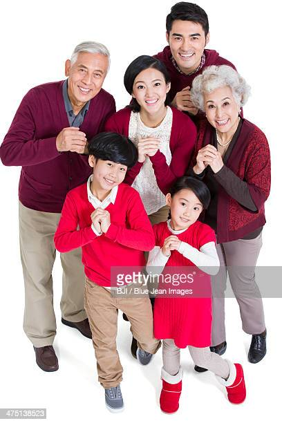 Big family greeting for Chinese New Year