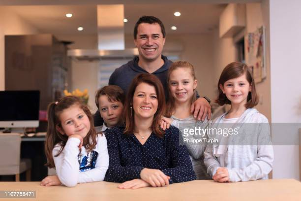 big family - stepfamily stock photos and pictures