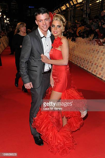 Big Fat Gypsy Wedding stars John McFadyen and Cheyenne Pidgley attend the the National Television Awards at 02 Arena on January 23 2013 in London...