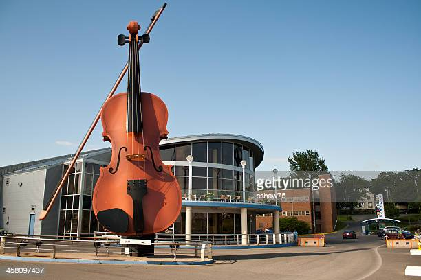 big fiddle at joan harriss pavillion - cape breton island stock pictures, royalty-free photos & images