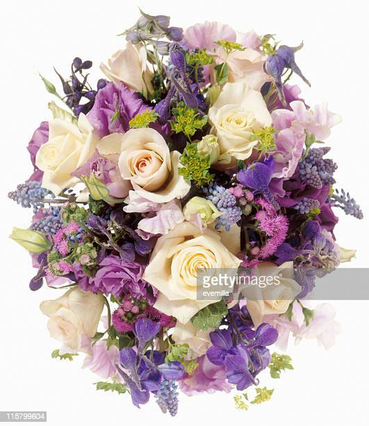 big flower bouquet isolated on white - bunch stock pictures, royalty-free photos & images