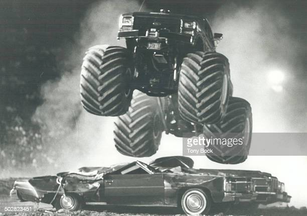 Big Foot makes his mark The Monster Trucks with their eightfoot wheels and clusters of shock absorbers crushed cars as they raced at the grandstand...