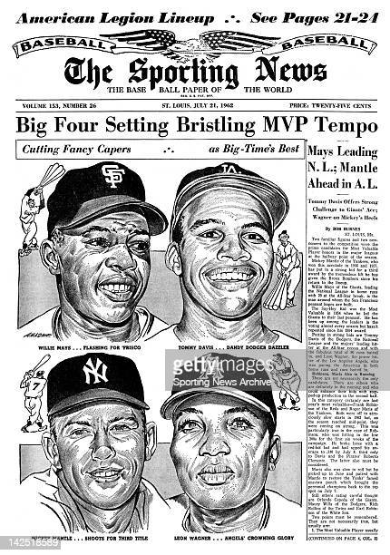 Big Four Setting Bristling MVP Tempo Mays Leading NL Mantle Ahead in AL Tommy Davis Offers Strong Challenge to Giants' Ave Wagner on Mickey's Heels
