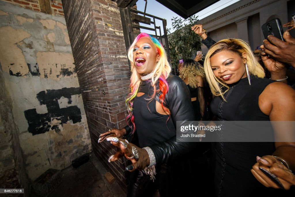 Big Freedia (L) arrives at a screening of 'Big Freedia Bounces Back' airing Tuesdays on Fuse @ 10/9c at the Ace Hotel on September 12, 2017 in New Orleans, Louisiana.