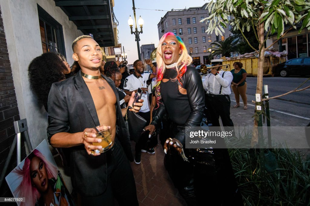 Big Freedia (C) arrives at a screening of 'Big Freedia Bounces Back' airing Tuesdays on Fuse @ 10/9c at the Ace Hotel on September 12, 2017 in New Orleans, Louisiana.