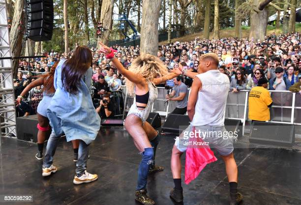 Big Freedia performs onstage for Beignets Bounce at Gastro Magic stage during the 2017 Outside Lands Music And Arts Festival at Golden Gate Park on...