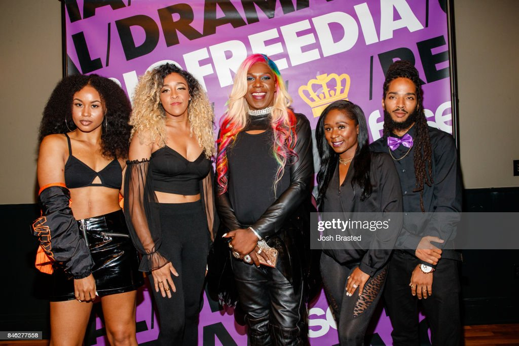 Big Freedia (C) poses with her dancers at a screening of 'Big Freedia Bounces Back' airing Tuesdays on Fuse @ 10/9c at the Ace Hotel on September 12, 2017 in New Orleans, Louisiana.