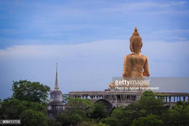 Big golden Buddha statue, Phetchaburi province of Thailand