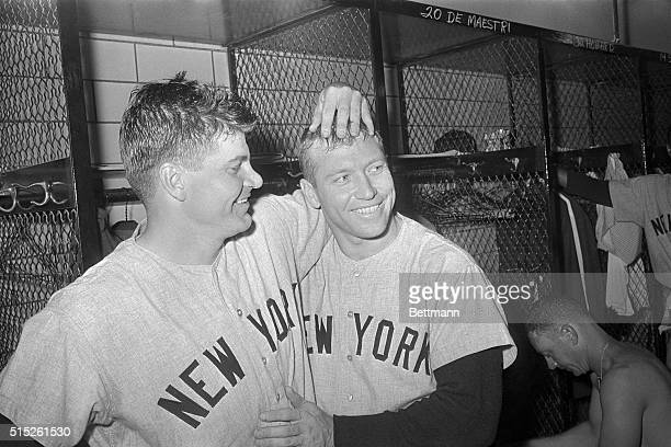 Big guns on the Yankee team Bob Turley and Mickey Mantle won with 163 over the Pittsburgh Pirates in Game 2 of the 1960 World Series
