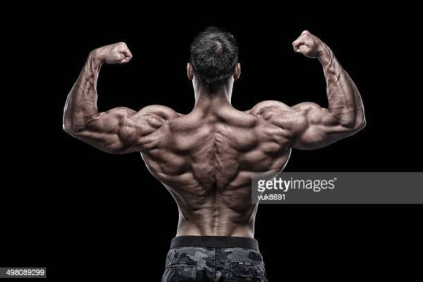 big guns - body building stock photos and pictures