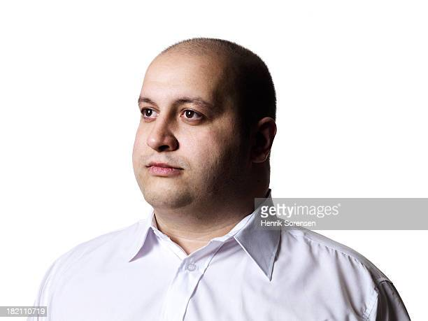 big guy - fat bald men stock pictures, royalty-free photos & images