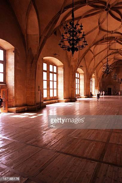 Big hall in prague castle vertical formate