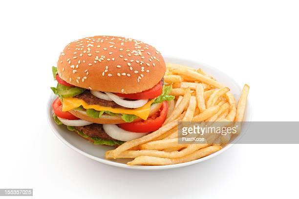 Big Hamburger avec des frites